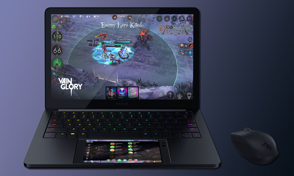 Razer presenta híbrido entre laptop y smartphone